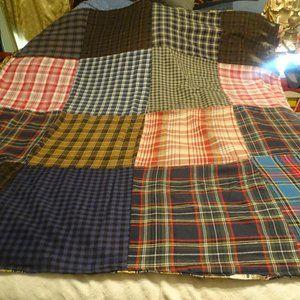 Flannel quilt lined w/cotton, s lap quilt